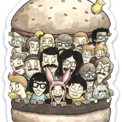 Burger 8×10 with FREE Sticker