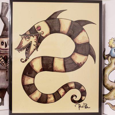 Sand Worm Print