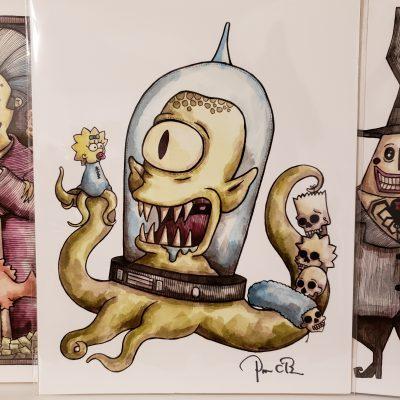 4 Halloween Prints